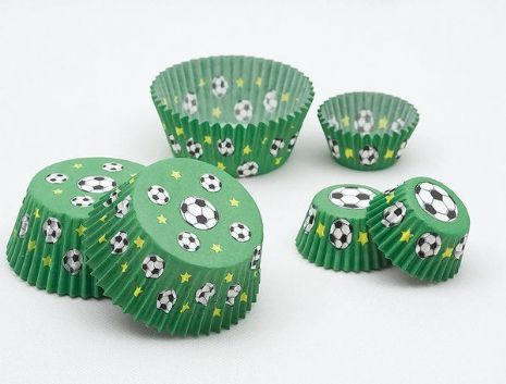 Football Cake Cups Small 3 x 2cm 100 Soccer MLS SPL PL World Cup European